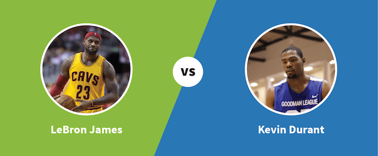 LeBron James vs. Kevin Durant - Paylab blog